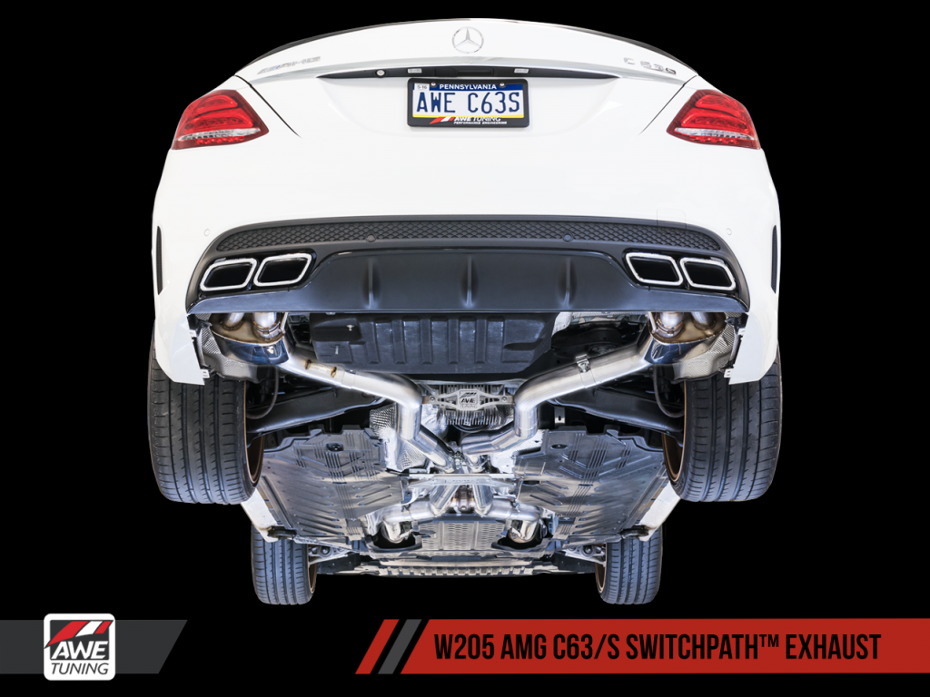 Awe Tuning Mercedec Benz W205 Amg C63 S Exhaust Systems