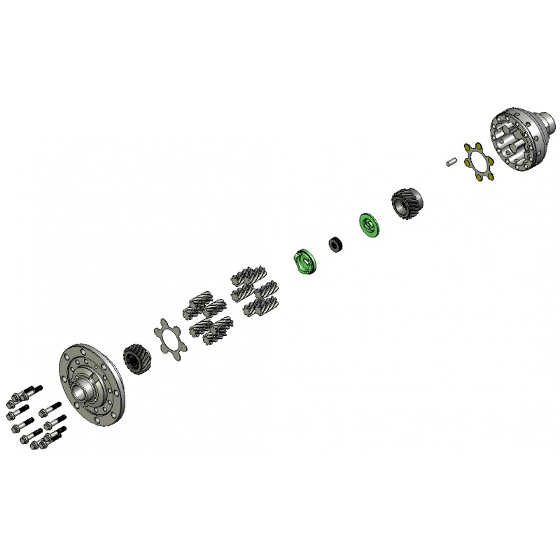 wavetrac differential for gm corvette c7 at