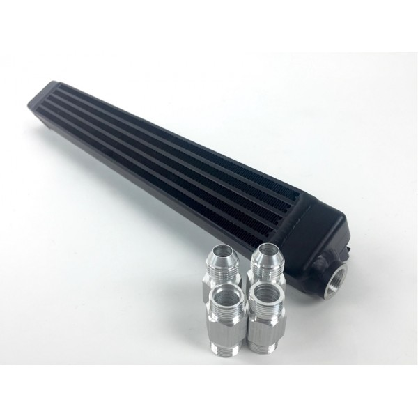 CSF BMW E30 high performance Oil Cooler w/ adjustable fittings for OEM style and AN-10 male connections