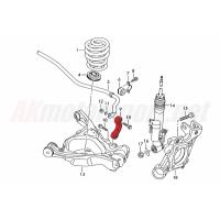 Verkline Sway Bar End Links Rear Audi C6 A6 S6 RS6