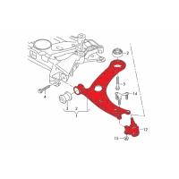 Verkline Adjustable tubular front race lowered wishbones MQB Audi RS3 S3 A3 8V Golf Mk7 Seat Leon 5F