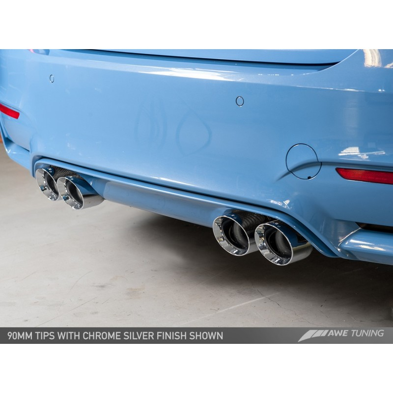 Awe Tuning Bmw F8x M3m4 Non Resonated Switchpath Exhaust Chrome